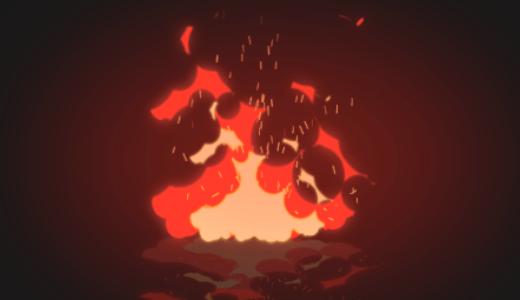 燃えさかる炎のアニメーション作ってみた【Aftereffectsトレーニング】