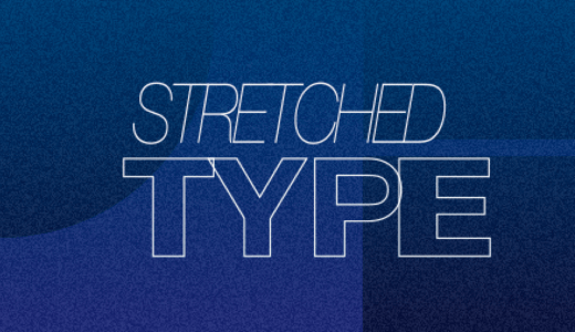 STRETCHするTYPEアニメーション【Aftereffectsトレーニング】