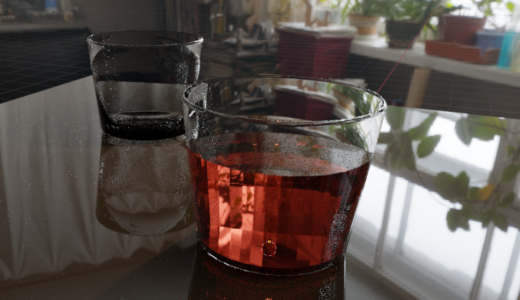 【Blender2.8 トレーニング】グラスを作ってみました 厚みをつけるやりかたなど