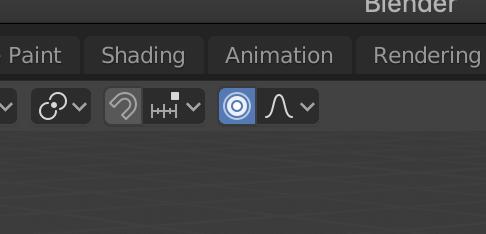 Blender2.8 プロポーショナル編集