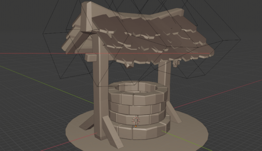 【Blender2.8】どう森のようなローポリの物体を作る Part2 ナイフツール