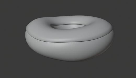 【Blender2.8】ドーナツを作る Part3 ソリッド化など