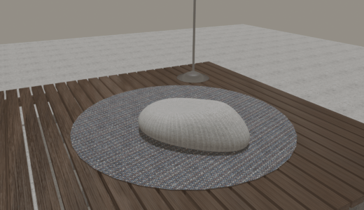 【Blender2.8】自主制作 ウッドデッキを作りました