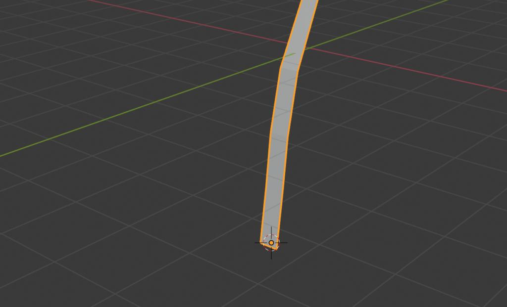 Blender2.8カーソルをGで下に移動