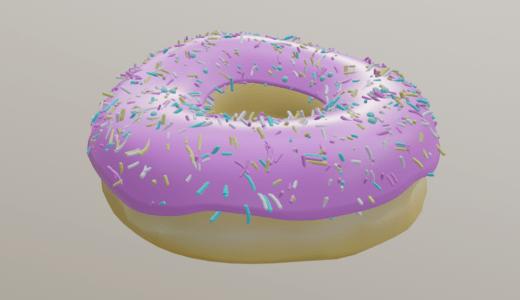 【Blender2.8】ドーナツを作る Level2-Part3  テクスチャペインティングなど