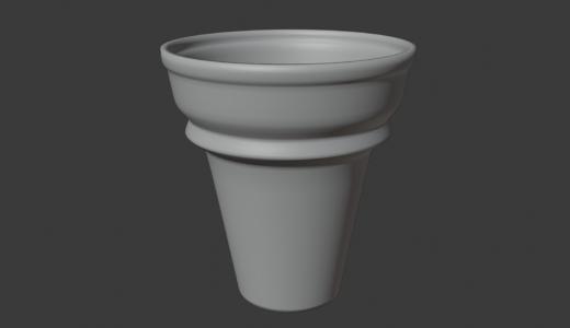 【Blender2.8】ソフトクリームを作ってみる Part1/4 ソリッド化など