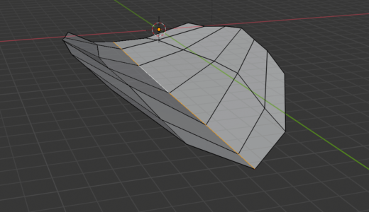 【Blender2.8】葉っぱのモデリング プロポーショナル編集、細分化など