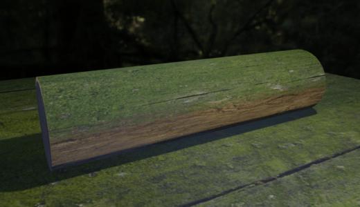 【Blender2.8】苔つき倒木をつくってみる   テクスチャ/ノードなど