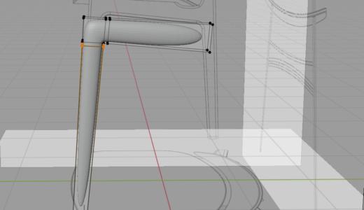 【Blender2.8】椅子のモデリング part1/9