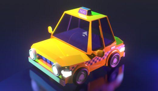 【Blender2.8】タクシーを作る