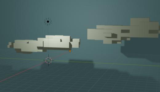 【Blender2.8】マインクラフト風なオブジェクトを作ってみました