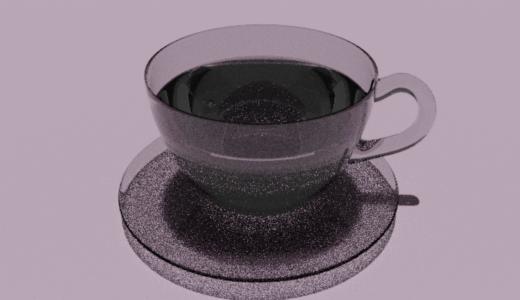 【Blender2.8】コーヒーカップを作る Level3 Part3  ガラスのマテリアル/など