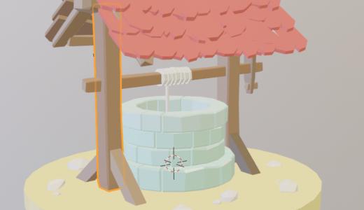 【Blender2.8】どう森のようなローポリの物体を作る Part3 マテリアルの色つけ