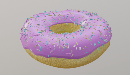 【Blender2.8】ドーナツを作る Level2-Part6  ディスプレイスメントノードなど