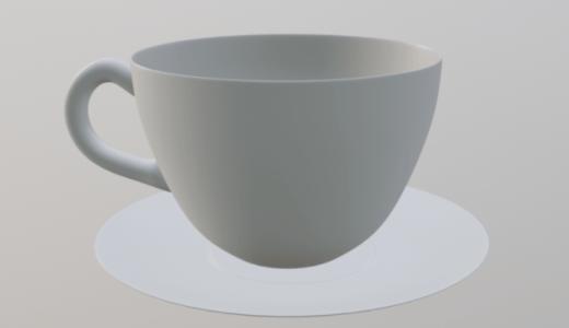 【Blender2.8】コーヒーカップを作る Level3 Part2  スピン/面のブリッジなど