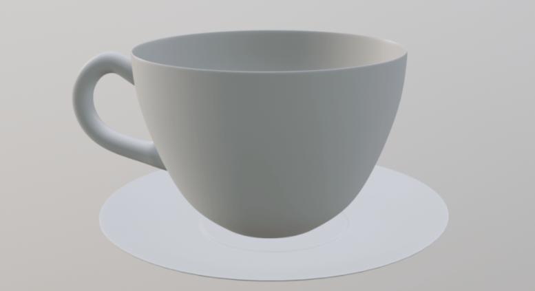 blender2.8 コーヒーカップのモデリング