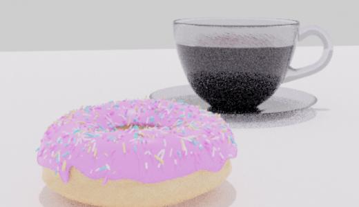 【Blender2.8】コーヒーカップを作る Level4 Part1  カメラ設定など