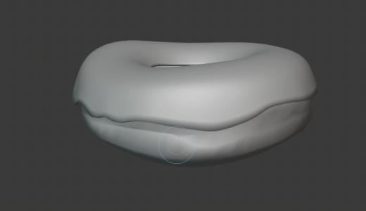 【Blender2.8】ドーナツを作る Part5 スカルプティングなど