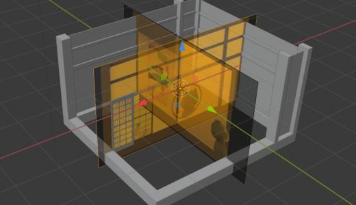 【Blender2.8】和室CGの作り方 Part1 下絵からモデリング/配列モディファイアーなど