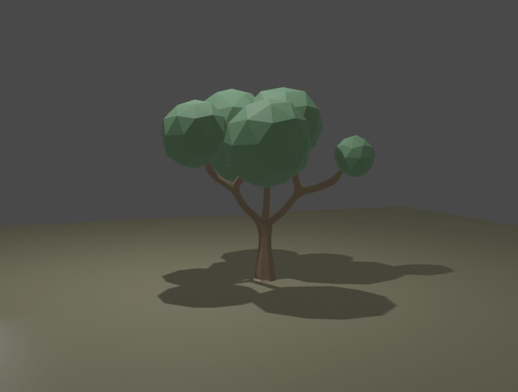 Blender-1.ローポリの木