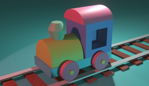 【Blender2.8】積木の汽車を作る