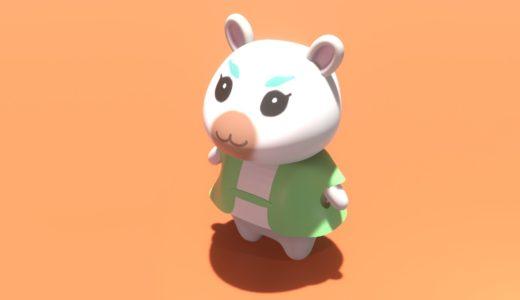【Blender2.8】あつまれどうぶつの森のキャラを作る